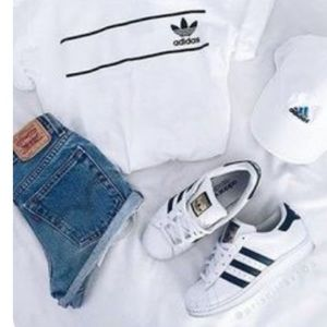 ADIDAS SUPERSTAR SNEAKERS WHITE BLACK SIZE 8